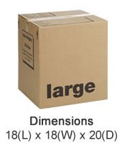 Large Cardboard Boxes - Seaton Self Storage, East Devon